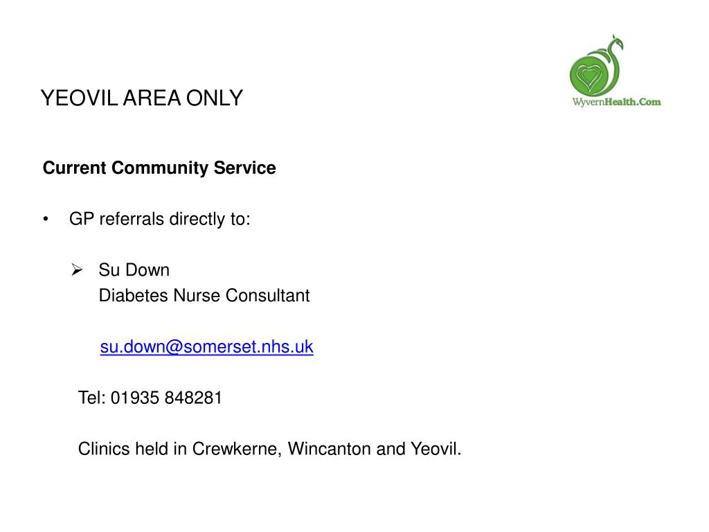 Yeovil area only