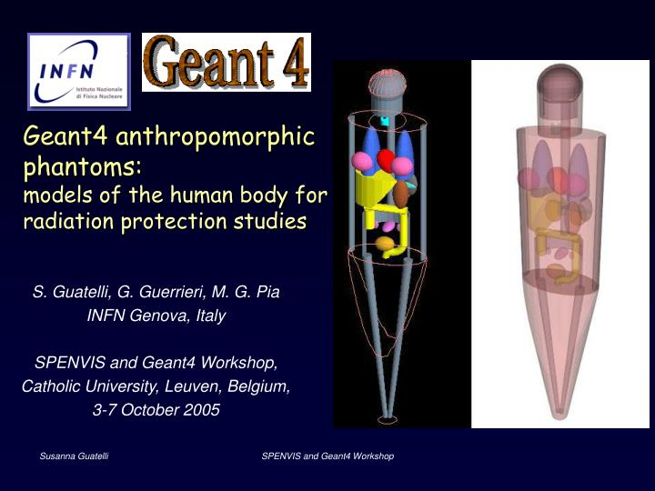 Geant4 anthropomorphic phantoms models of the human body for radiation protection studies