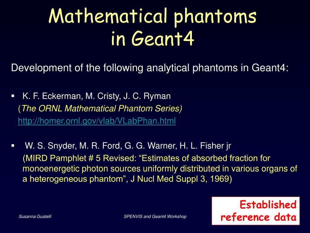 Mathematical phantoms