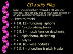 cd audio files
