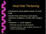 vocal fold thickening