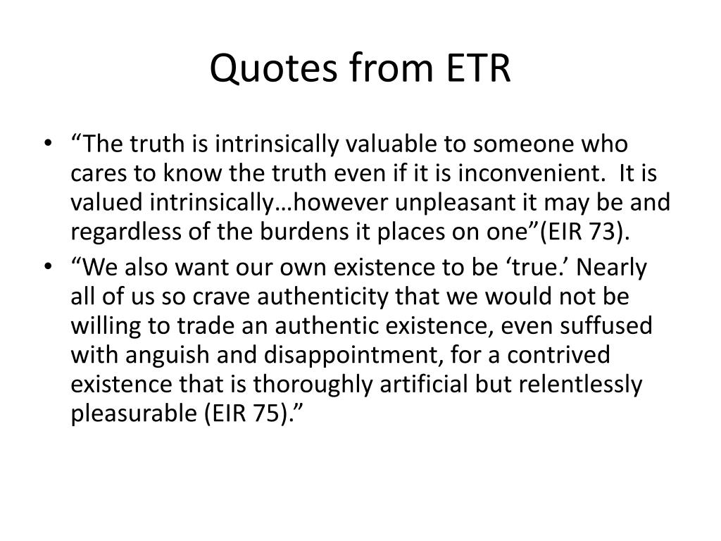 Quotes from ETR