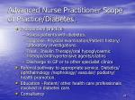advanced nurse practitioner scope of practice diabetes
