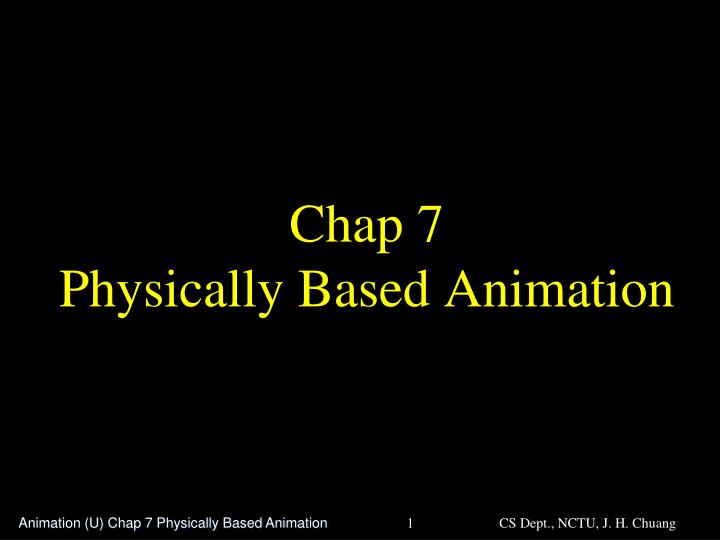 chap 7 physically based animation n.