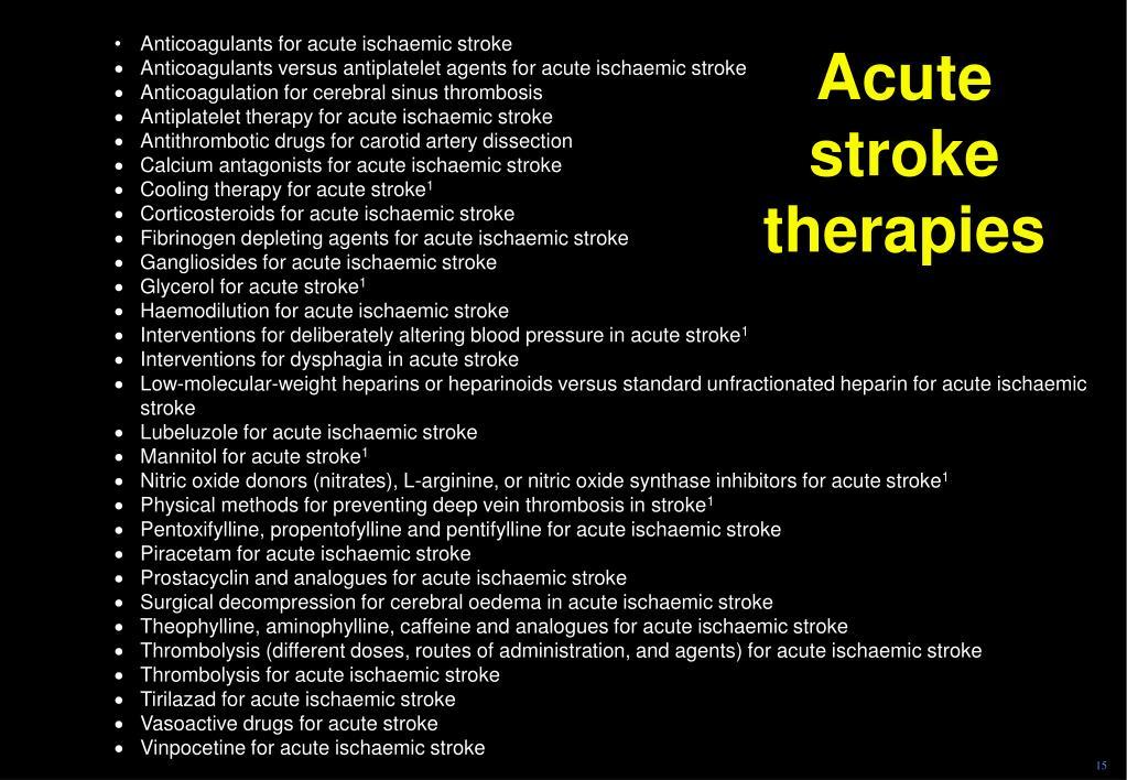Acute stroke therapies