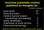 cochrane systematic reviews published on therapies for