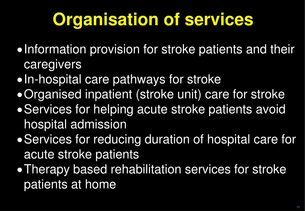 Organisation of services