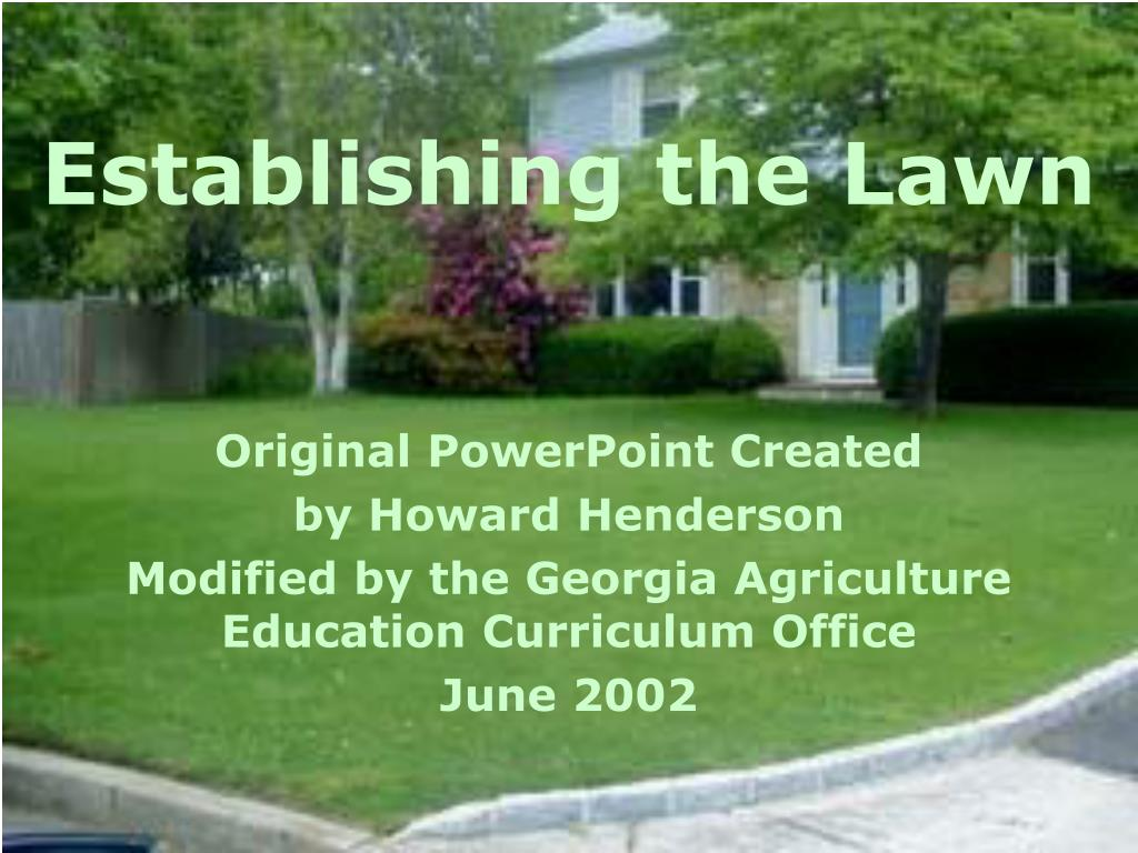 establishing the lawn l.