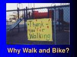 why walk and bike