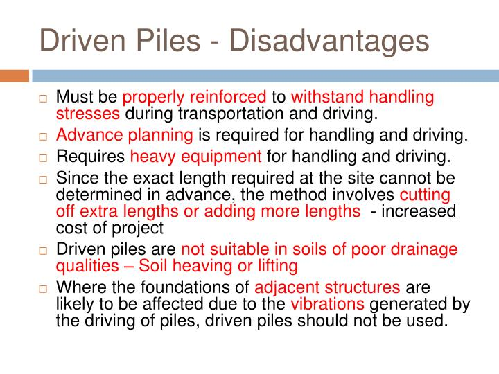 Ppt pile foundation powerpoint presentation id 733615 for Cost of pilings for foundations