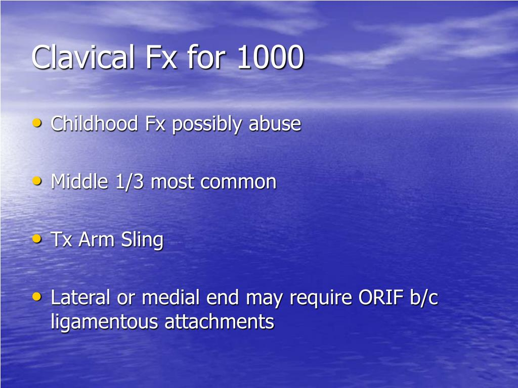 Clavical Fx for 1000