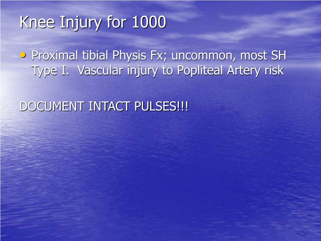 Knee Injury for 1000