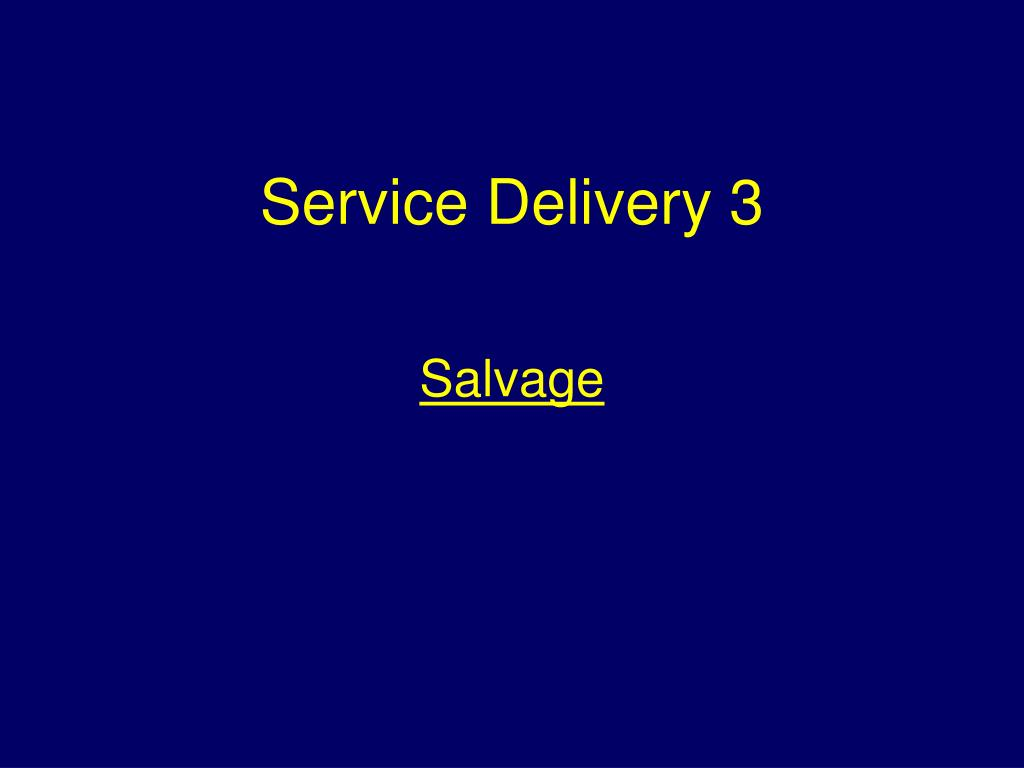 service delivery 3 l.