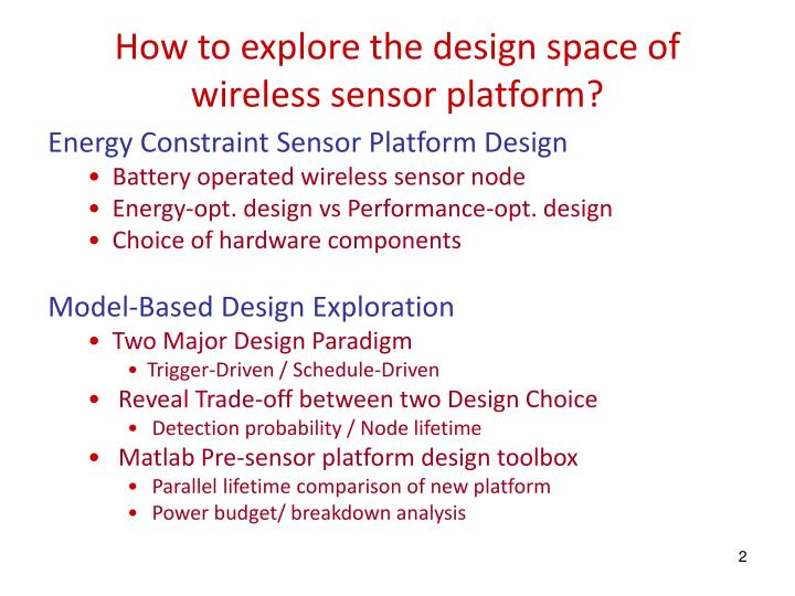 How to explore the design space of wireless sensor platform