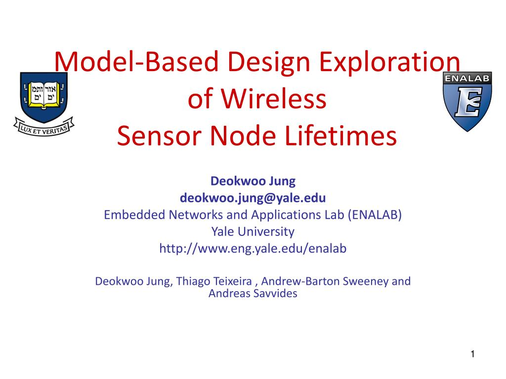 model based design exploration of wireless sensor node lifetimes l.