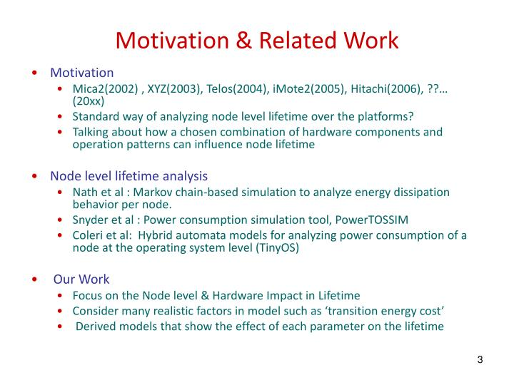 Motivation related work