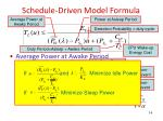 schedule driven model formula