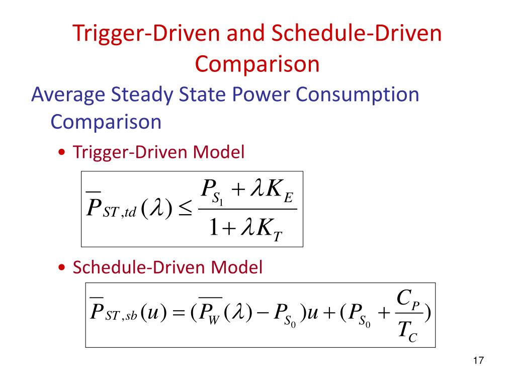 Trigger-Driven and Schedule-Driven Comparison