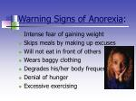 warning signs of anorexia