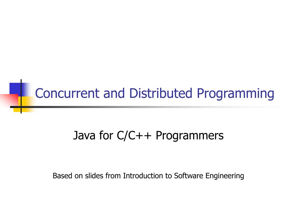 concurrent and distributed programming l.