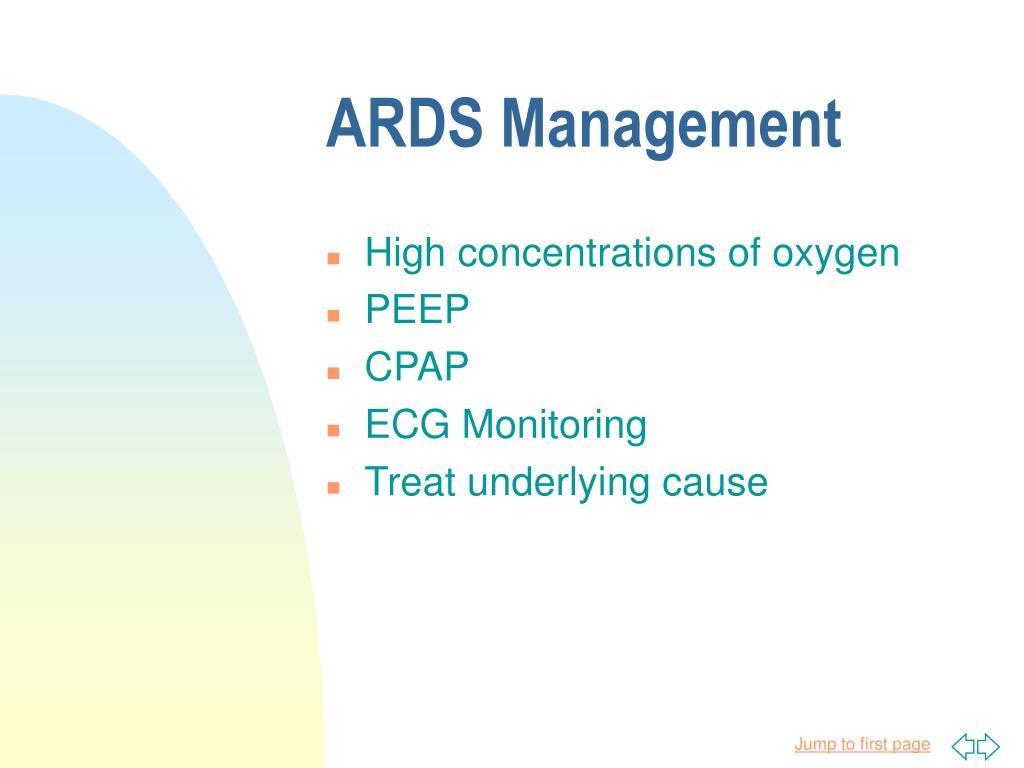 ARDS Management