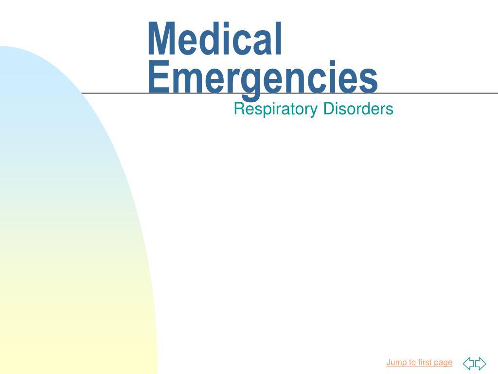medical emergencies l.