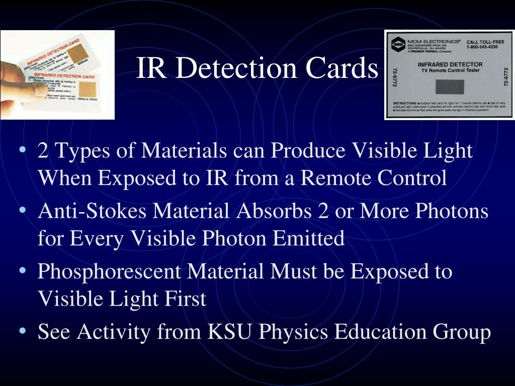 IR Detection Cards