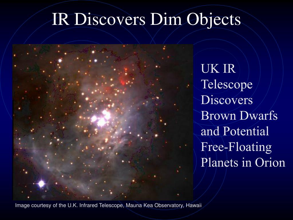 IR Discovers Dim Objects
