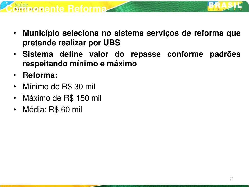 Componente Reforma