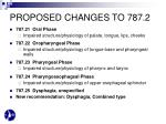 proposed changes to 787 2