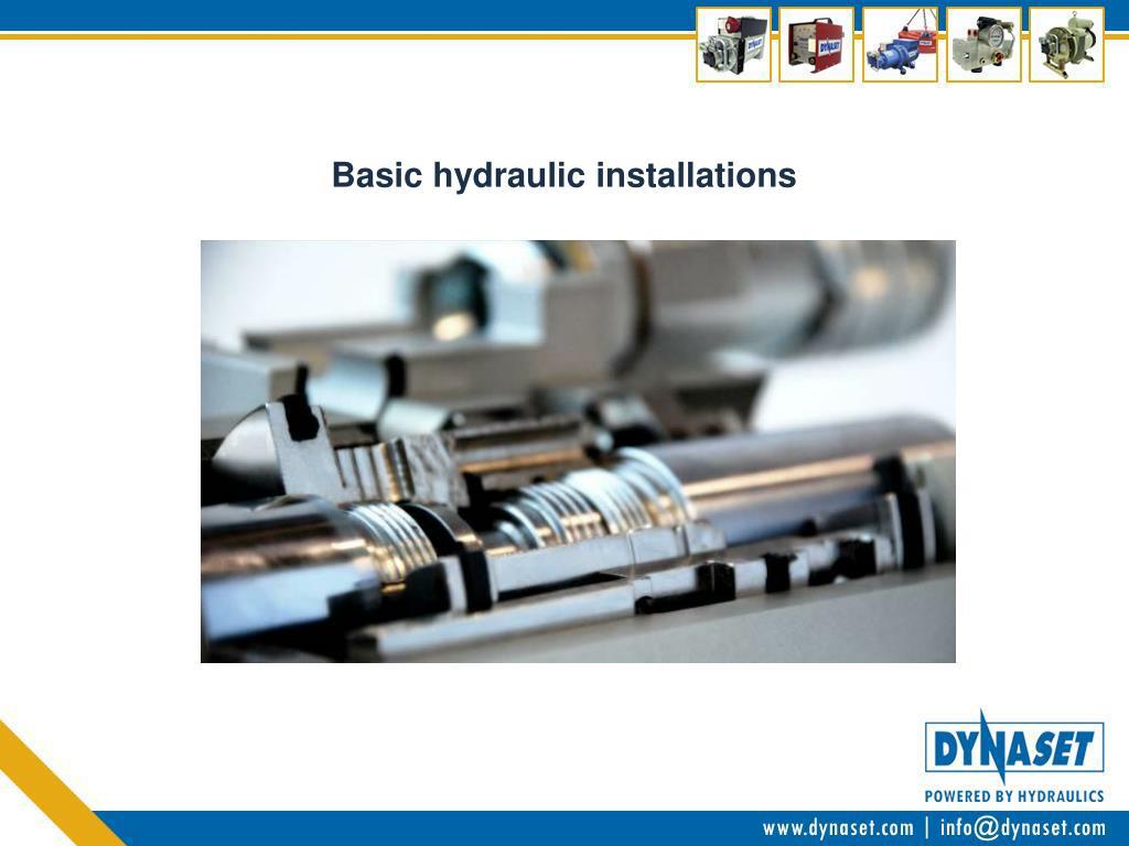 basic hydraulic installations l.