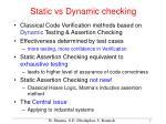 static vs dynamic checking