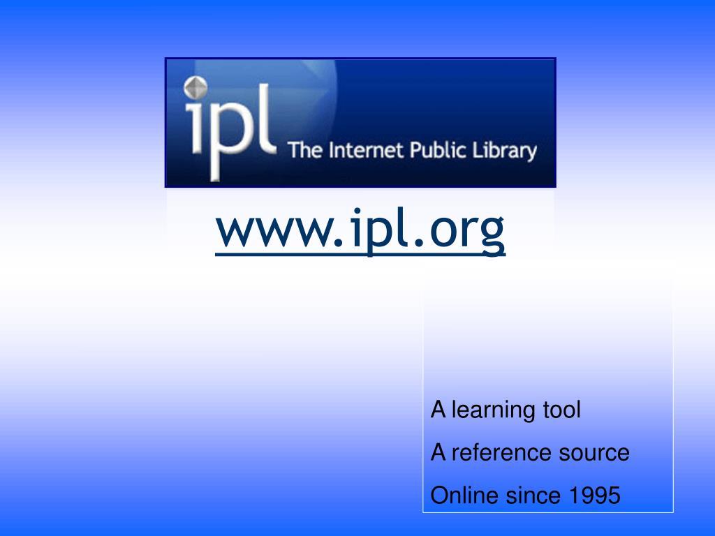 www ipl org l.