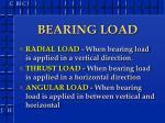 bearing load