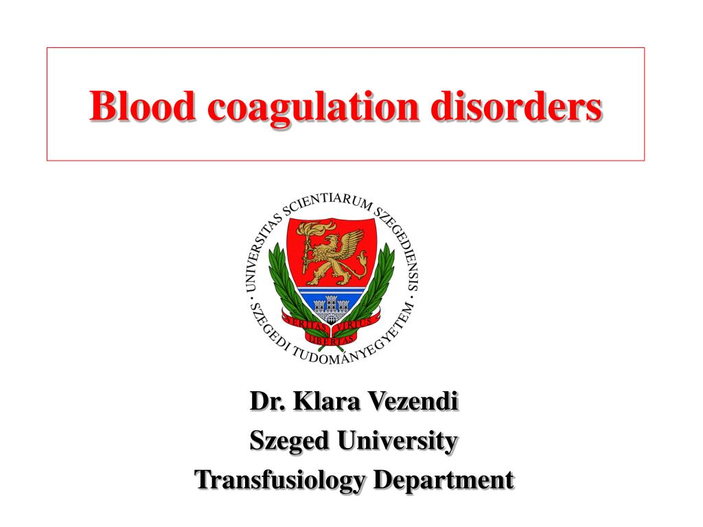 blood coagulation disorders l.