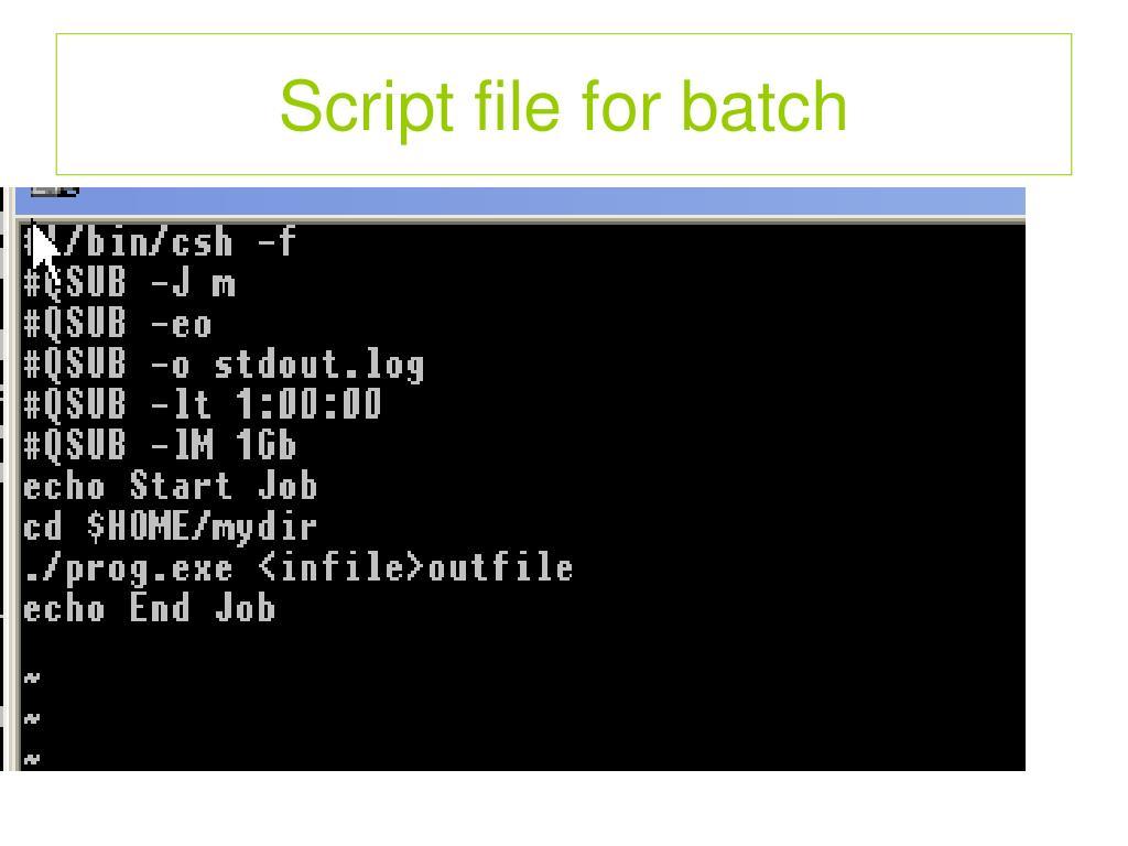 Script file for batch
