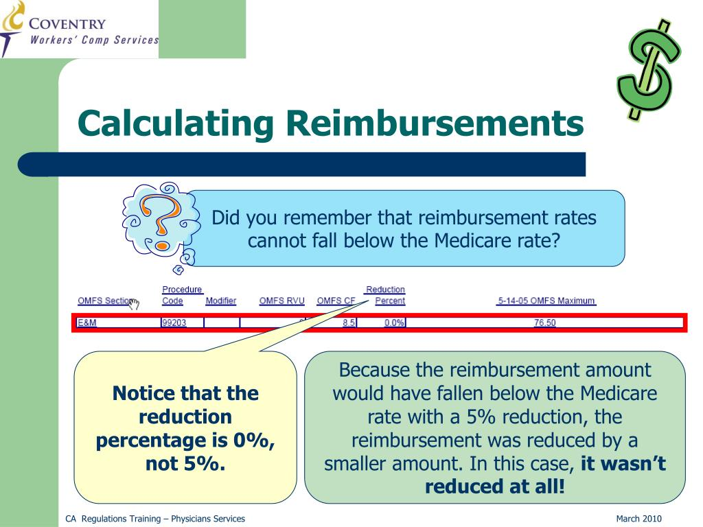 Did you remember that reimbursement rates cannot fall below the Medicare rate?