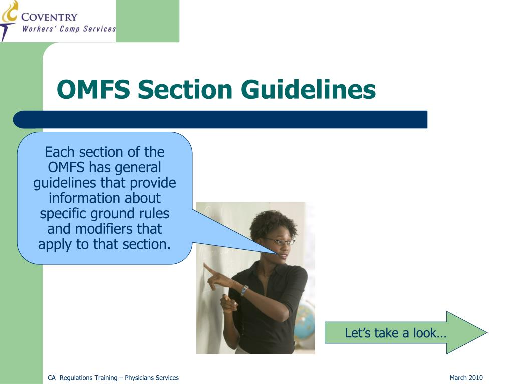 OMFS Section Guidelines