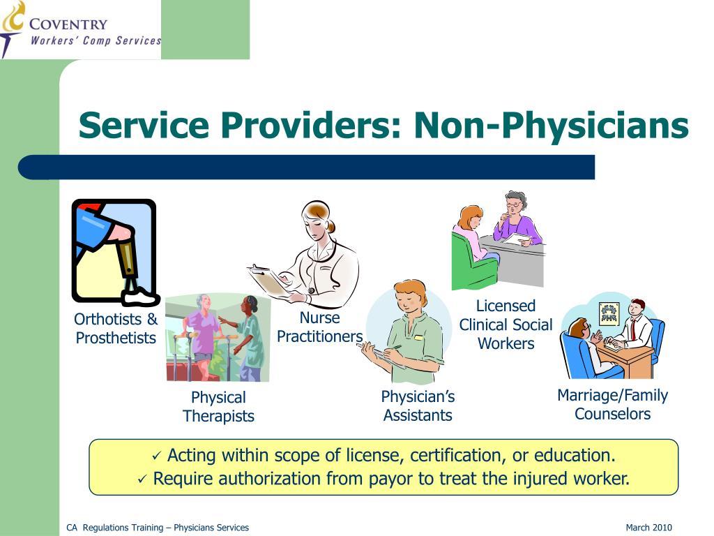 Service Providers: Non-Physicians