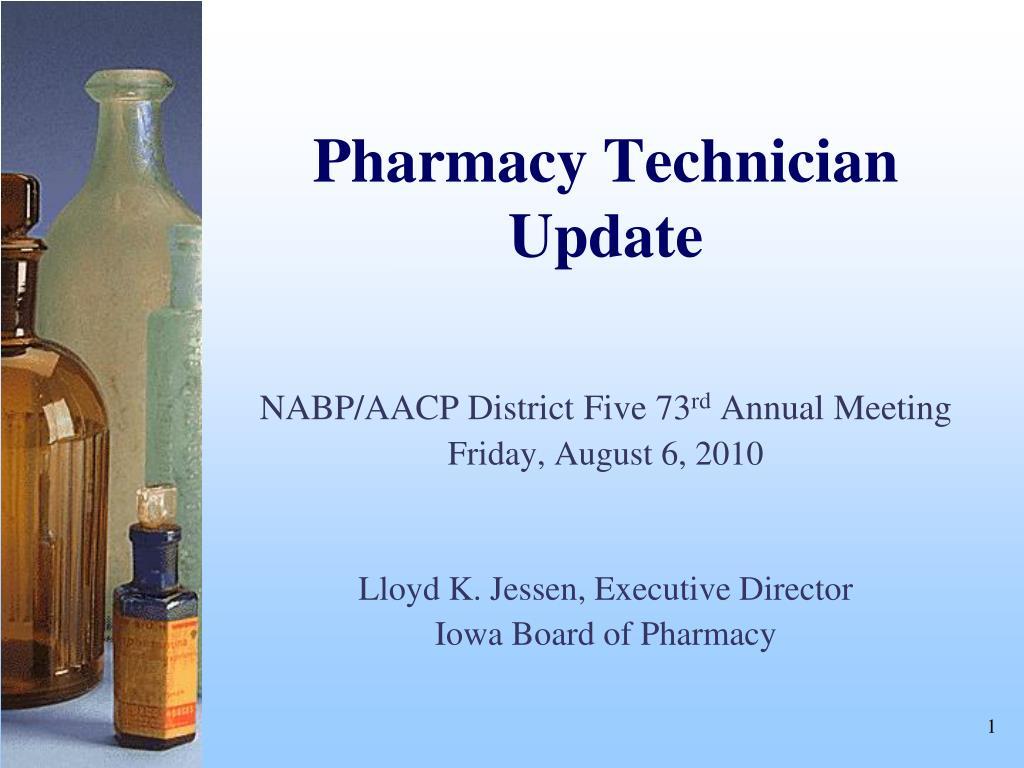 pharmacy technician update l.
