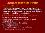 changes following stroke12