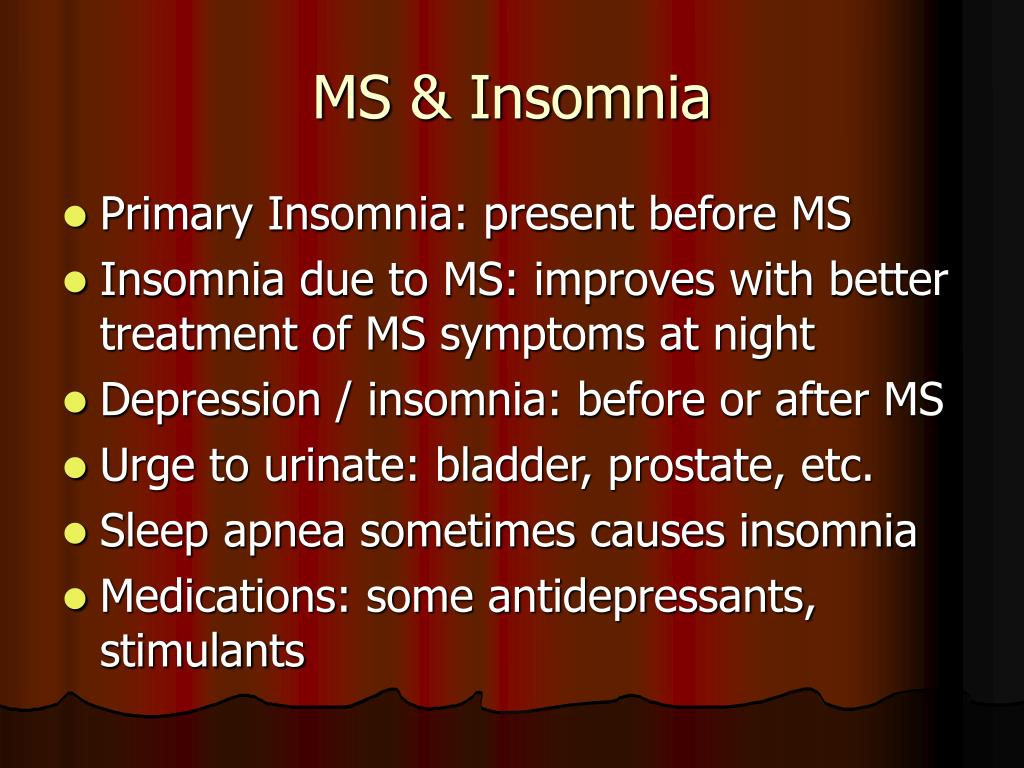 MS & Insomnia