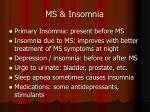 ms insomnia