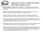 national prevention health promotion and public health council18