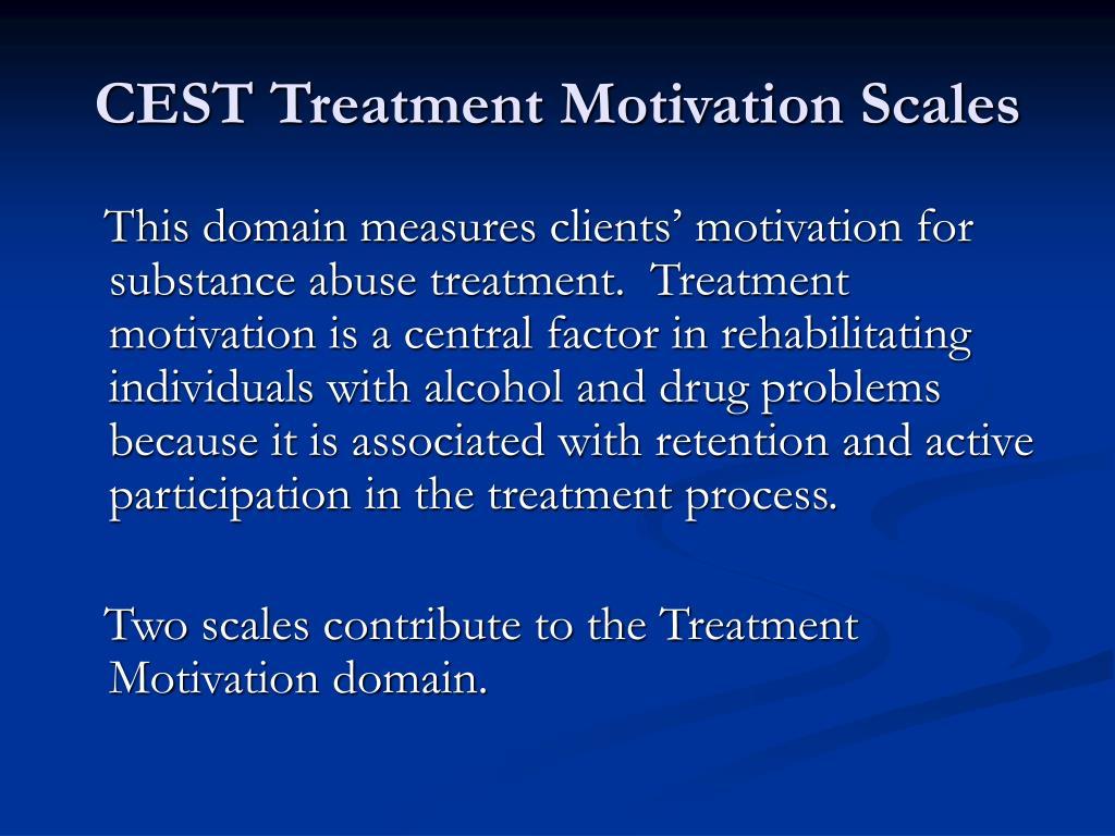 CEST Treatment Motivation Scales