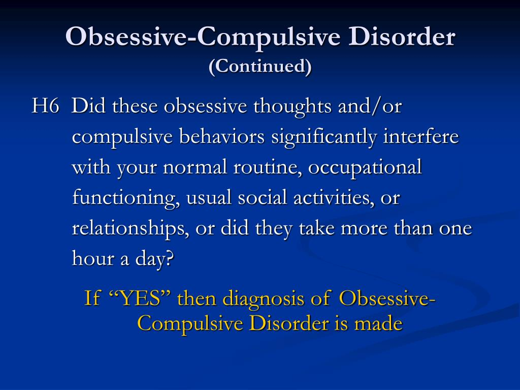 Obsessive-Compulsive Disorder
