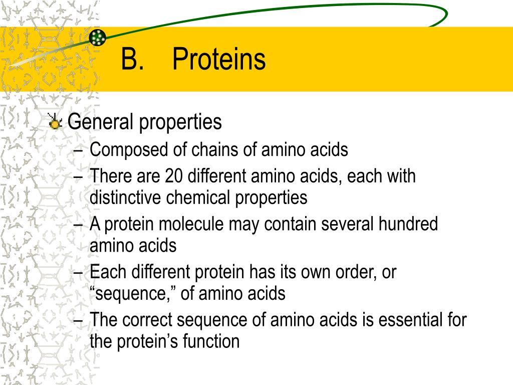 B.	Proteins