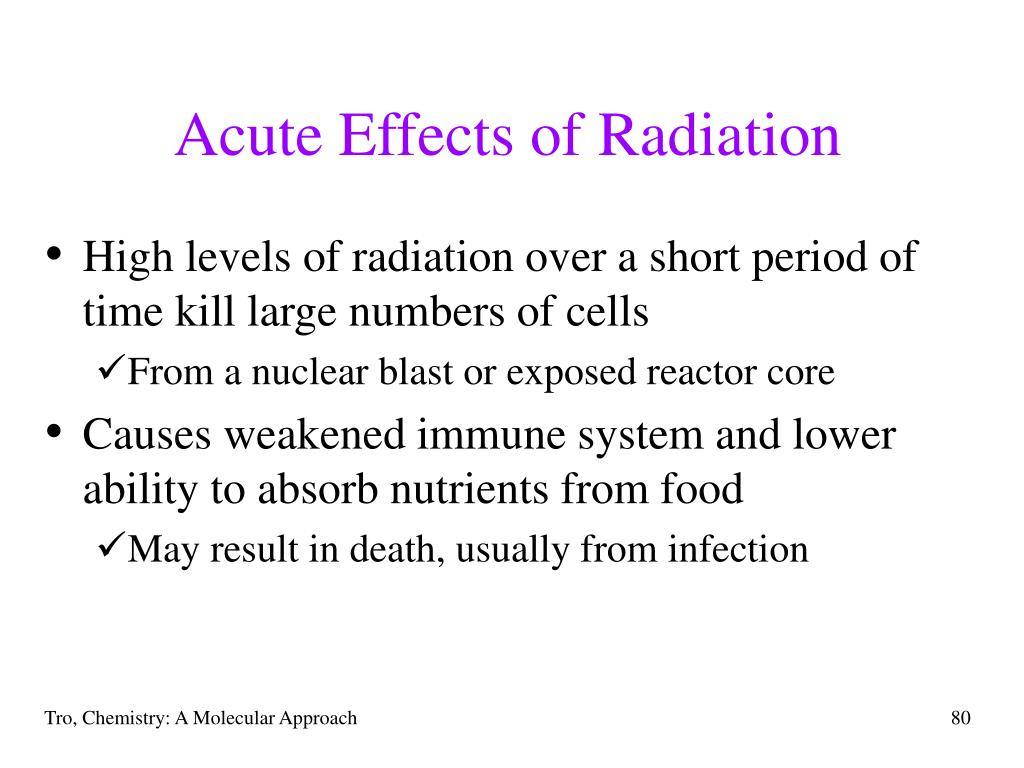 Acute Effects of Radiation