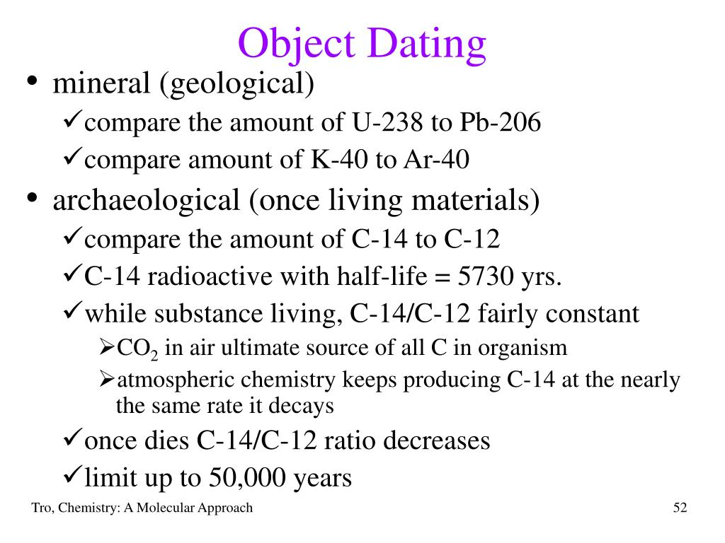 Object Dating