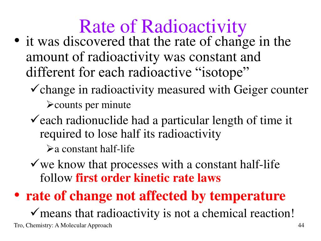 Rate of Radioactivity